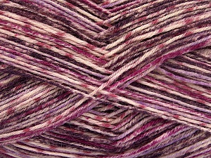 Fiber Content 75% Superwash Wool, 25% Polyamide, Purple, Lilac Shades, Brand Ice Yarns, Yarn Thickness 1 SuperFine  Sock, Fingering, Baby, fnt2-51906