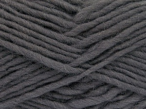 Fiber Content 100% Wool, Brand Ice Yarns, Dark Grey, Yarn Thickness 5 Bulky  Chunky, Craft, Rug, fnt2-51913