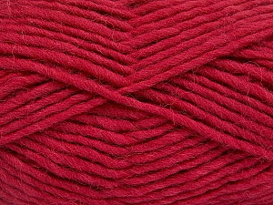 Fiber Content 100% Wool, Brand Ice Yarns, Dark Fuchsia, Yarn Thickness 5 Bulky  Chunky, Craft, Rug, fnt2-51917