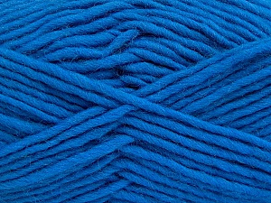 Fiber Content 100% Wool, Royal Blue, Brand Ice Yarns, Yarn Thickness 5 Bulky  Chunky, Craft, Rug, fnt2-51920