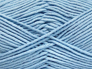 Fiber Content 55% Cotton, 45% Acrylic, Light Blue, Brand Ice Yarns, Yarn Thickness 4 Medium  Worsted, Afghan, Aran, fnt2-52026