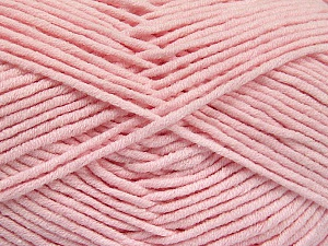 Fiber Content 55% Cotton, 45% Acrylic, Brand Ice Yarns, Baby Pink, Yarn Thickness 4 Medium  Worsted, Afghan, Aran, fnt2-52027