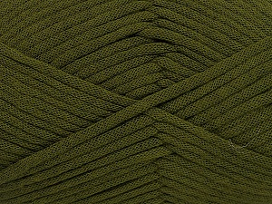 This is a tube-like yarn with soft fleece inside. Fiber Content 73% Viscose, 27% Polyester, Brand Ice Yarns, Dark Green, Yarn Thickness 5 Bulky  Chunky, Craft, Rug, fnt2-52044