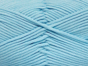 This is a tube-like yarn with soft fleece inside. Fiber Content 73% Viscose, 27% Polyester, Light Blue, Brand Ice Yarns, Yarn Thickness 5 Bulky  Chunky, Craft, Rug, fnt2-52047