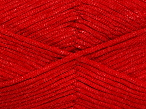 This is a tube-like yarn with soft fleece inside. Fiber Content 73% Viscose, 27% Polyester, Red, Brand Ice Yarns, Yarn Thickness 5 Bulky  Chunky, Craft, Rug, fnt2-52049