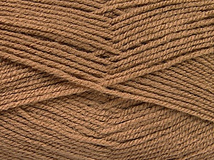 Fiber Content 100% Acrylic, Brand Ice Yarns, Camel, Yarn Thickness 3 Light  DK, Light, Worsted, fnt2-52076
