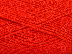 Fiber Content 100% Acrylic, Brand Ice Yarns, Dark Orange, Yarn Thickness 3 Light  DK, Light, Worsted, fnt2-52094
