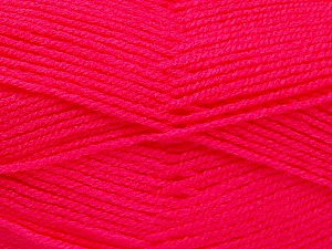 Fiber Content 100% Acrylic, Brand Ice Yarns, Candy Pink, Yarn Thickness 3 Light  DK, Light, Worsted, fnt2-52098