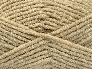 Fiber Content 50% Acrylic, 25% Wool, 25% Alpaca, Brand Ice Yarns, Beige, Yarn Thickness 5 Bulky  Chunky, Craft, Rug, fnt2-52132