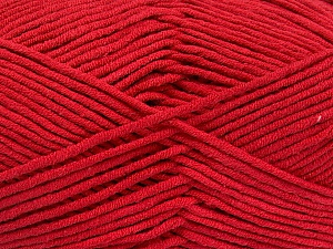 Fiber Content 55% Cotton, 45% Acrylic, Red, Brand Ice Yarns, Yarn Thickness 4 Medium  Worsted, Afghan, Aran, fnt2-52133