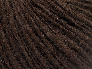 Fiber Content 65% Acrylic, 15% Alpaca, 10% Wool, 10% Viscose, Brand Ice Yarns, Dark Brown, fnt2-52189