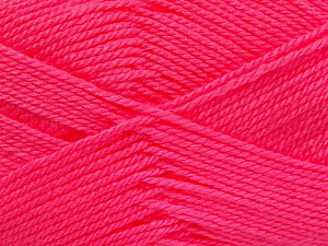 Fiber Content 100% Acrylic, Neon Pink, Brand Ice Yarns, Yarn Thickness 2 Fine  Sport, Baby, fnt2-52242