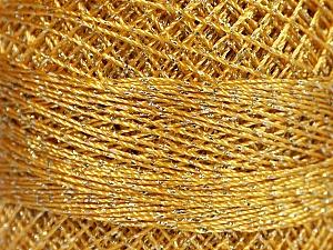 Fiber Content 70% Polyester, 30% Metallic Lurex, Brand YarnArt, Silver, Gold, Yarn Thickness 0 Lace  Fingering Crochet Thread, fnt2-52252