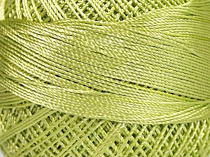 Fiber Content 100% Micro Fiber, Brand YarnArt, Light Green, Yarn Thickness 0 Lace  Fingering Crochet Thread, fnt2-52264