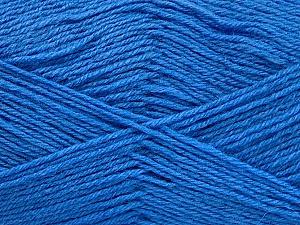 Fiber Content 60% Merino Wool, 40% Acrylic, Brand Ice Yarns, Blue, Yarn Thickness 2 Fine  Sport, Baby, fnt2-52353