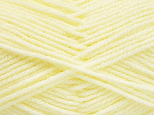 Worsted  Fiber Content 100% Acrylic, Lemon Yellow, Brand Ice Yarns, Yarn Thickness 4 Medium  Worsted, Afghan, Aran, fnt2-52729