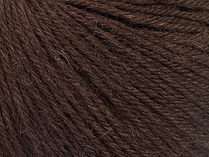 Fiber Content 55% Baby Alpaca, 45% Superwash Extrafine Merino Wool, Brand Ice Yarns, Dark Brown, Yarn Thickness 3 Light  DK, Light, Worsted, fnt2-52761