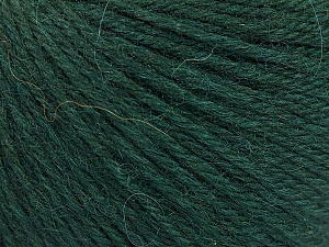 Fiber Content 55% Baby Alpaca, 45% Superwash Extrafine Merino Wool, Brand Ice Yarns, Dark Green, Yarn Thickness 3 Light  DK, Light, Worsted, fnt2-52764