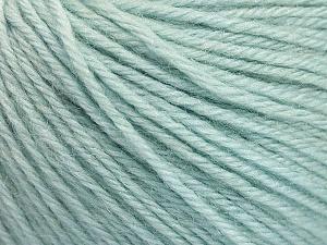 Fiber Content 55% Baby Alpaca, 45% Superwash Extrafine Merino Wool, Mint Green, Brand Ice Yarns, Yarn Thickness 3 Light DK, Light, Worsted, fnt2-52765
