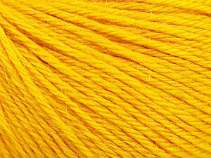 Fiber Content 55% Baby Alpaca, 45% Superwash Extrafine Merino Wool, Yellow, Brand Ice Yarns, Yarn Thickness 3 Light  DK, Light, Worsted, fnt2-52767