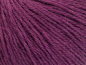 Fiber Content 55% Baby Alpaca, 45% Superwash Extrafine Merino Wool, Maroon, Brand Ice Yarns, Yarn Thickness 3 Light  DK, Light, Worsted, fnt2-52768