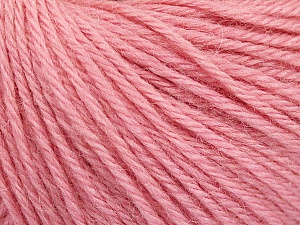 Fiber Content 55% Baby Alpaca, 45% Superwash Extrafine Merino Wool, Light Pink, Brand Ice Yarns, Yarn Thickness 3 Light  DK, Light, Worsted, fnt2-52769