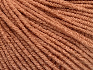 SUPERWASH MERINO EXTRAFINE is a DK weight, 100% extra fine Italian-style superwash merino wool making it extremely soft, as well as durable.  High twist and smooth texture gives unbelievable stitch definition making this a good choice for any project that you want to show off your stitch work. Projects knit and crocheted in SUPERWASH MERINO EXTRAFINE are machine washable! Lay flat to dry. Do not bleach. Do not iron Fiber Content 100% Superwash Extrafine Merino Wool, Light Salmon, Brand Ice Yarns, Yarn Thickness 3 Light  DK, Light, Worsted, fnt2-52771