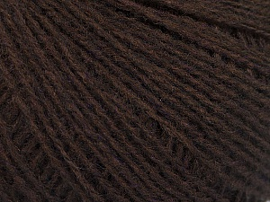 Fiber Content 70% Acrylic, 30% Wool, Brand Ice Yarns, Dark Brown, Yarn Thickness 2 Fine  Sport, Baby, fnt2-52847