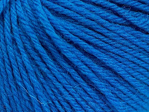 Fiber Content 100% Wool, Turquoise, Brand Ice Yarns, Yarn Thickness 4 Medium  Worsted, Afghan, Aran, fnt2-52908