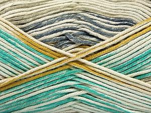 Fiber Content 50% Cotton, 50% Acrylic, Light Grey, Light Blue, Khaki, Brand Ice Yarns, Gold, Cream, Yarn Thickness 2 Fine  Sport, Baby, fnt2-52918