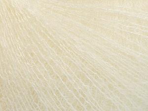Fiber Content 52% SuperKid Mohair, 35% Polyamide, 13% Superwash Extrafine Merino Wool, Brand Ice Yarns, Cream, Yarn Thickness 1 SuperFine  Sock, Fingering, Baby, fnt2-52947