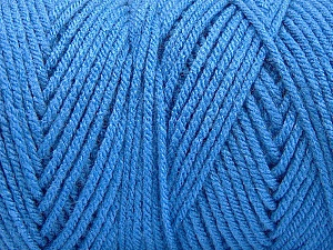 Items made with this yarn are machine washable & dryable. Items made with this yarn are machine washable & dryable. Fiber Content 100% Dralon Acrylic, Brand Ice Yarns, Blue, Yarn Thickness 4 Medium  Worsted, Afghan, Aran, fnt2-52950