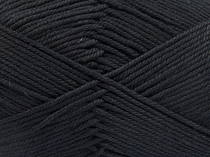 Baby cotton is a 100% premium giza cotton yarn exclusively made as a baby yarn. It is anti-bacterial and machine washable! Fiber Content 100% Giza Cotton, Brand Ice Yarns, Black, Yarn Thickness 3 Light  DK, Light, Worsted, fnt2-53062