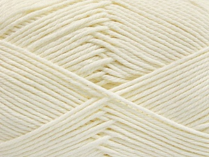 Baby cotton is a 100% premium giza cotton yarn exclusively made as a baby yarn. It is anti-bacterial and machine washable! Fiber Content 100% Giza Cotton, White, Brand Ice Yarns, Yarn Thickness 3 Light  DK, Light, Worsted, fnt2-53063