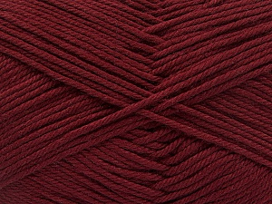 Baby cotton is a 100% premium giza cotton yarn exclusively made as a baby yarn. It is anti-bacterial and machine washable! Fiber Content 100% Giza Cotton, Brand Ice Yarns, Burgundy, Yarn Thickness 3 Light  DK, Light, Worsted, fnt2-53067