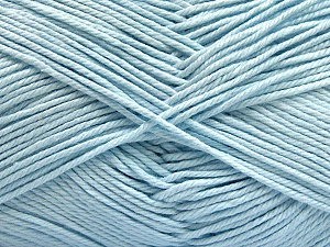 Baby cotton is a 100% premium giza cotton yarn exclusively made as a baby yarn. It is anti-bacterial and machine washable! Fiber Content 100% Giza Cotton, Light Blue, Brand Ice Yarns, Yarn Thickness 3 Light  DK, Light, Worsted, fnt2-53081