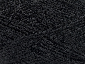 Fiber Content 50% Bamboo, 50% Acrylic, Brand Ice Yarns, Black, Yarn Thickness 2 Fine  Sport, Baby, fnt2-53087