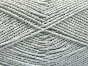Fiber Content 50% Acrylic, 50% Bamboo, Light Grey, Brand Ice Yarns, Yarn Thickness 2 Fine  Sport, Baby, fnt2-53088