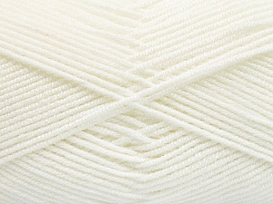 Fiber Content 50% Acrylic, 50% Bamboo, White, Brand Ice Yarns, Yarn Thickness 2 Fine  Sport, Baby, fnt2-53089