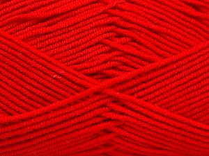 Fiber Content 50% Bamboo, 50% Acrylic, Red, Brand Ice Yarns, Yarn Thickness 2 Fine  Sport, Baby, fnt2-53092