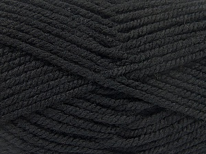 Fiber Content 100% Acrylic, Brand Ice Yarns, Black, Yarn Thickness 5 Bulky  Chunky, Craft, Rug, fnt2-53169
