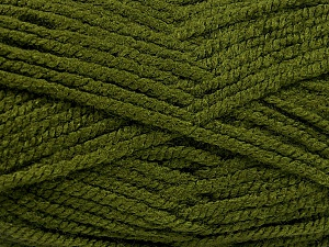 Fiber Content 100% Acrylic, Brand Ice Yarns, Hunter Green, Yarn Thickness 5 Bulky  Chunky, Craft, Rug, fnt2-53178