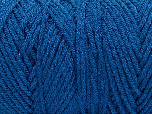 Items made with this yarn are machine washable & dryable. Fiber Content 100% Dralon Acrylic, Brand Ice Yarns, Blue, Yarn Thickness 4 Medium  Worsted, Afghan, Aran, fnt2-53328