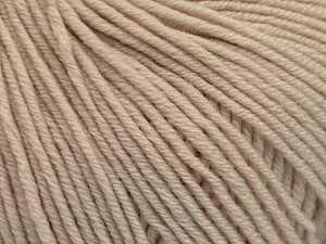 SUPERWASH MERINO EXTRAFINE is a DK weight, 100% extra fine Italian-style superwash merino wool making it extremely soft, as well as durable.  High twist and smooth texture gives unbelievable stitch definition making this a good choice for any project that you want to show off your stitch work. Projects knit and crocheted in SUPERWASH MERINO EXTRAFINE are machine washable! Lay flat to dry. Do not bleach. Do not iron Fiber Content 100% Superwash Extrafine Merino Wool, Brand Ice Yarns, Beige, Yarn Thickness 3 Light  DK, Light, Worsted, fnt2-53342