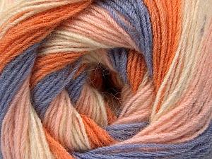 Fiber Content 60% Acrylic, 20% Wool, 20% Angora, Orange, Lilac, Light Pink, Brand Ice Yarns, Cream, Yarn Thickness 2 Fine  Sport, Baby, fnt2-53558