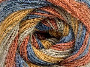 Fiber Content 60% Acrylic, 20% Angora, 20% Wool, Salmon, Brand Ice Yarns, Gold, Blue, Beige, Yarn Thickness 2 Fine  Sport, Baby, fnt2-53562
