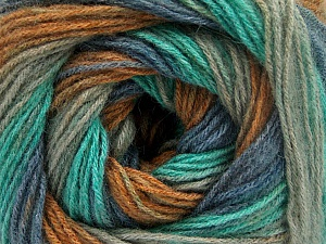 Fiber Content 60% Acrylic, 20% Wool, 20% Angora, Mint Green, Brand Ice Yarns, Grey, Brown, Blue, Yarn Thickness 2 Fine  Sport, Baby, fnt2-53563