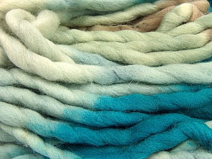 Fiber Content 100% Superwash Wool, Turquoise, Brand Ice Yarns, Camel, Beige, Yarn Thickness 6 SuperBulky  Bulky, Roving, fnt2-53568