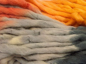 Fiber Content 100% Superwash Wool, Orange, Brand Ice Yarns, Grey Shades, Gold, Yarn Thickness 6 SuperBulky  Bulky, Roving, fnt2-53569