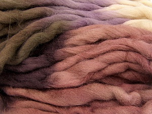 Fiber Content 100% Superwash Wool, Rose Brown, Maroon, Lilac, Brand Ice Yarns, Yarn Thickness 6 SuperBulky  Bulky, Roving, fnt2-53570
